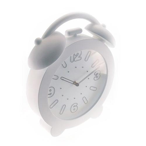 Relógio de Parede Decorativo Branco - 32x28 cm