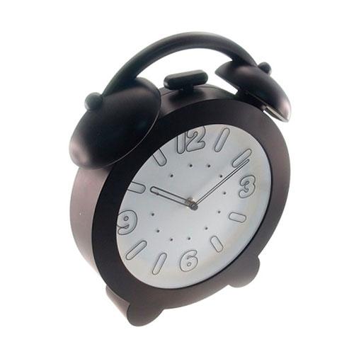 Relógio de Parede Decorativo Preto - 32x28 cm