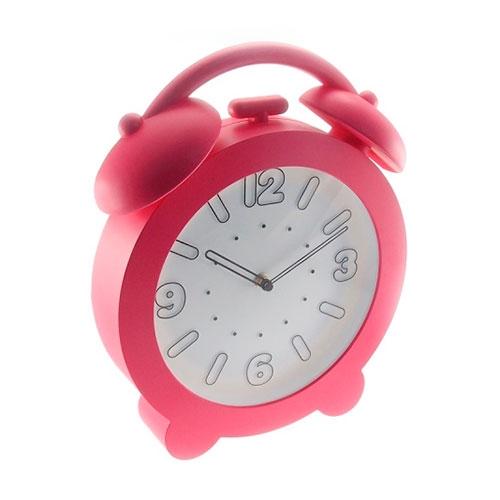 Relógio de Parede Decorativo Rosa - 32x28 cm
