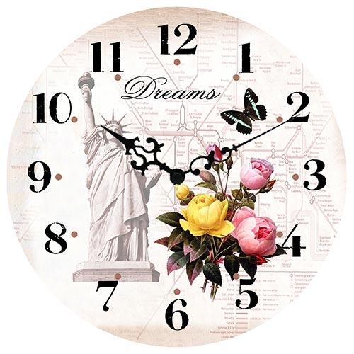 Relógio de Parede Dreams Romantic Feeling Collection Vell Chic - 40cm