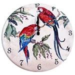 Relógio de Parede Duas Araras em Madeira MDF - 28 cm