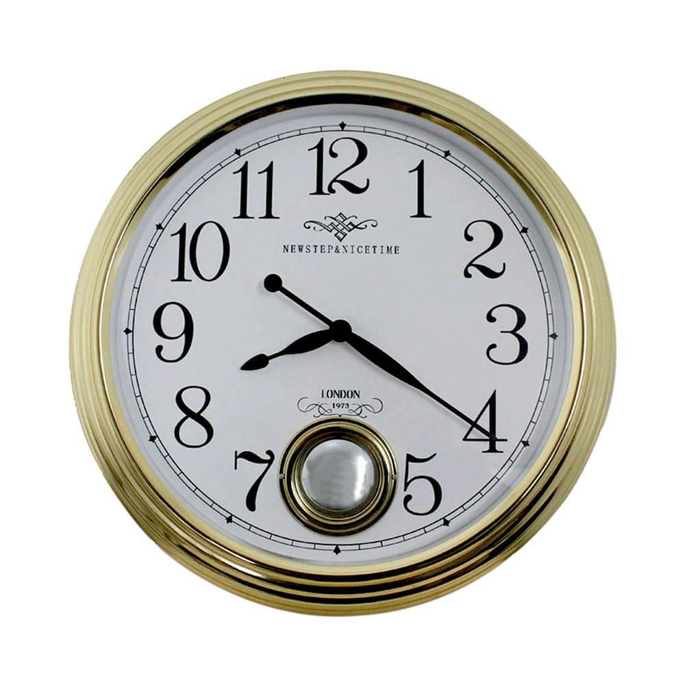 Relógio de Parede Edith Gold Goldway - 42x9 cm
