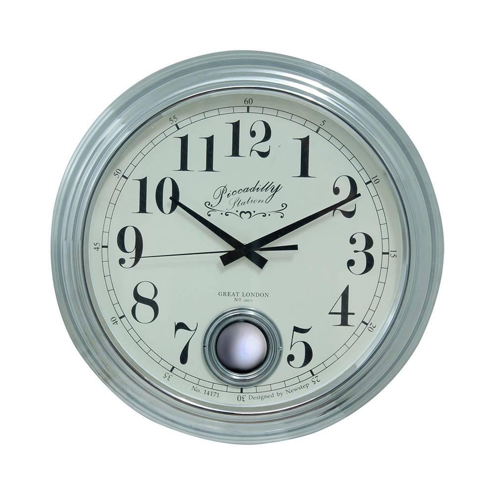 Relógio de Parede Edith Silver Goldway - 42x9 cm