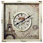 Relógio de Parede Eiffel Quadrado Oldway