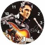 Relógio de Parede Elvis Presley em MDF - 28 cm