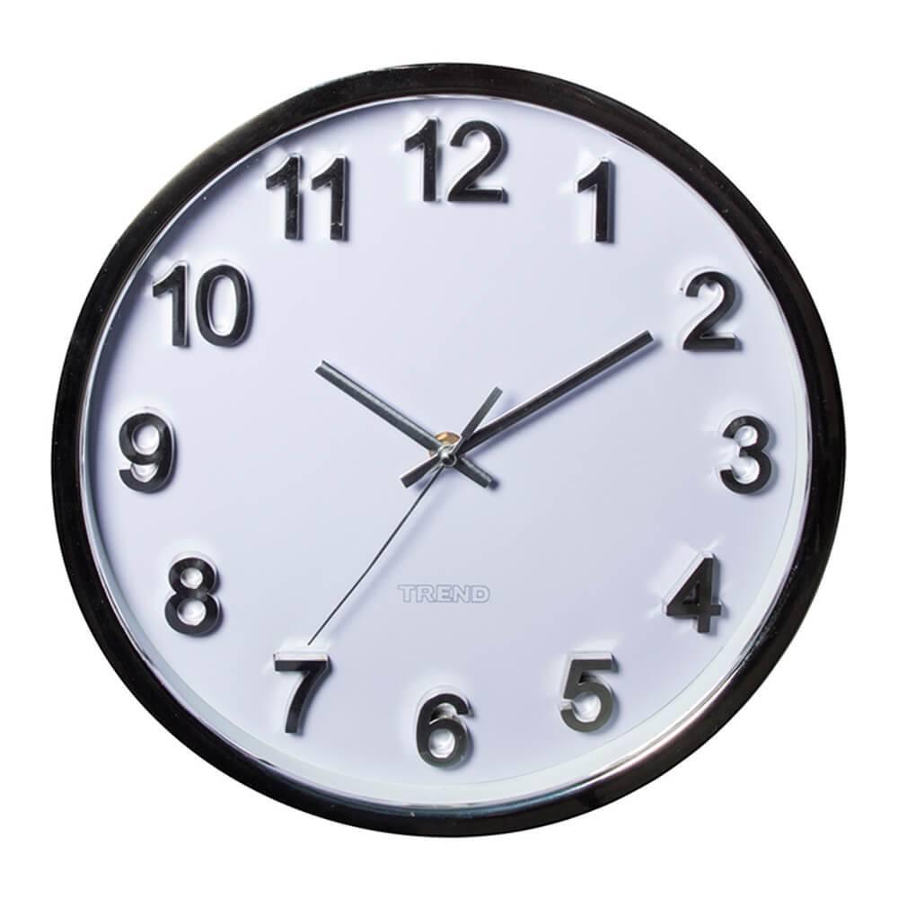 Relógio de Parede Embossed Numbers Branco - Urban - 31 cm