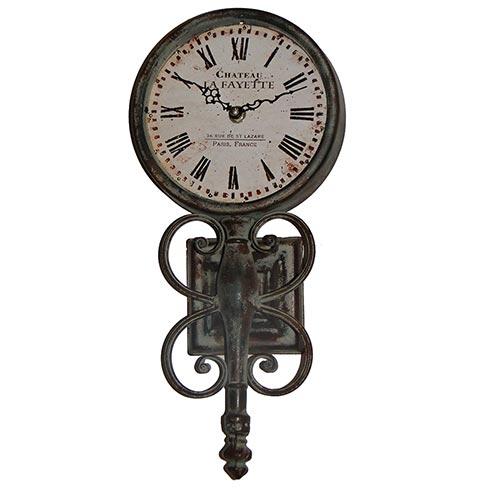 Relógio de Parede Estação Chateau La Fayette - Oldway - Em Metal - 48x22 cm