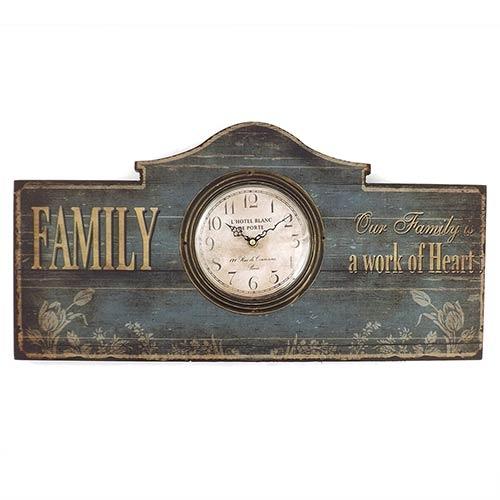 Relógio de Parede Family Oldway - Em MDF - 50x25 cm
