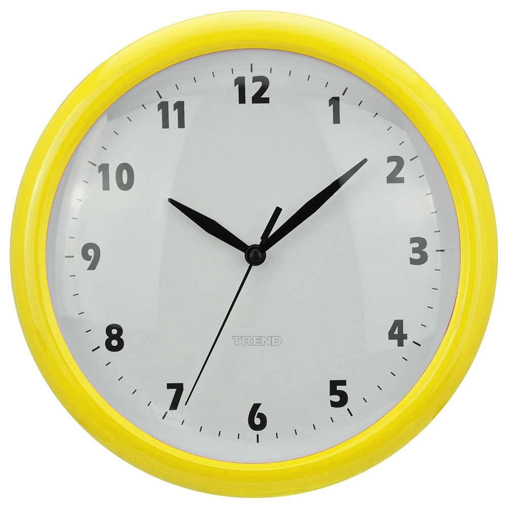 Relógio de Parede Fat Edges Amarelo - Urban - 24 cm