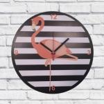 Relógio de Parede Flamingo em MDF - 30x2 cm
