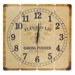 Relógio de Parede Fleur de Lis em Madeira MDF - 40 cm