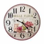 Relógio De Parede Flor Belle Fleur Oldway em MDF - 60x3 cm