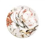 Relógio de Parede Flor e Pássaro