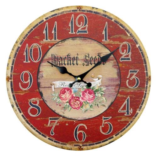 cc4d6df51d2 Relógio de Parede Flores Retrô em MDF - Compre Relógios de Parede ...