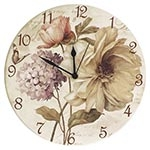 Relógio de Parede Flores Vintage