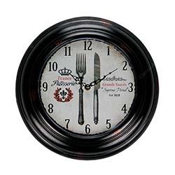 Relógio de Parede France Cutlery em Metal