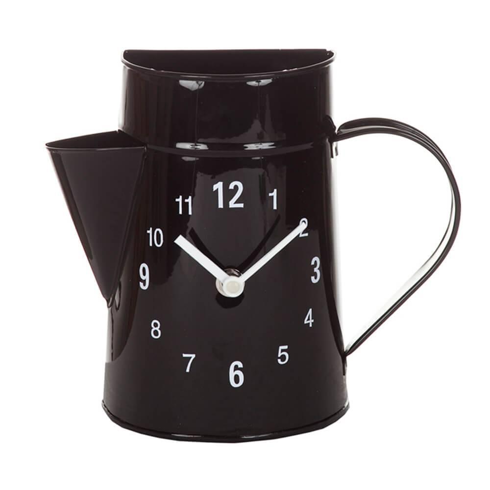 Relógio de Parede Garden Bule Preto em Metal - Urban - 21,5x19 cm