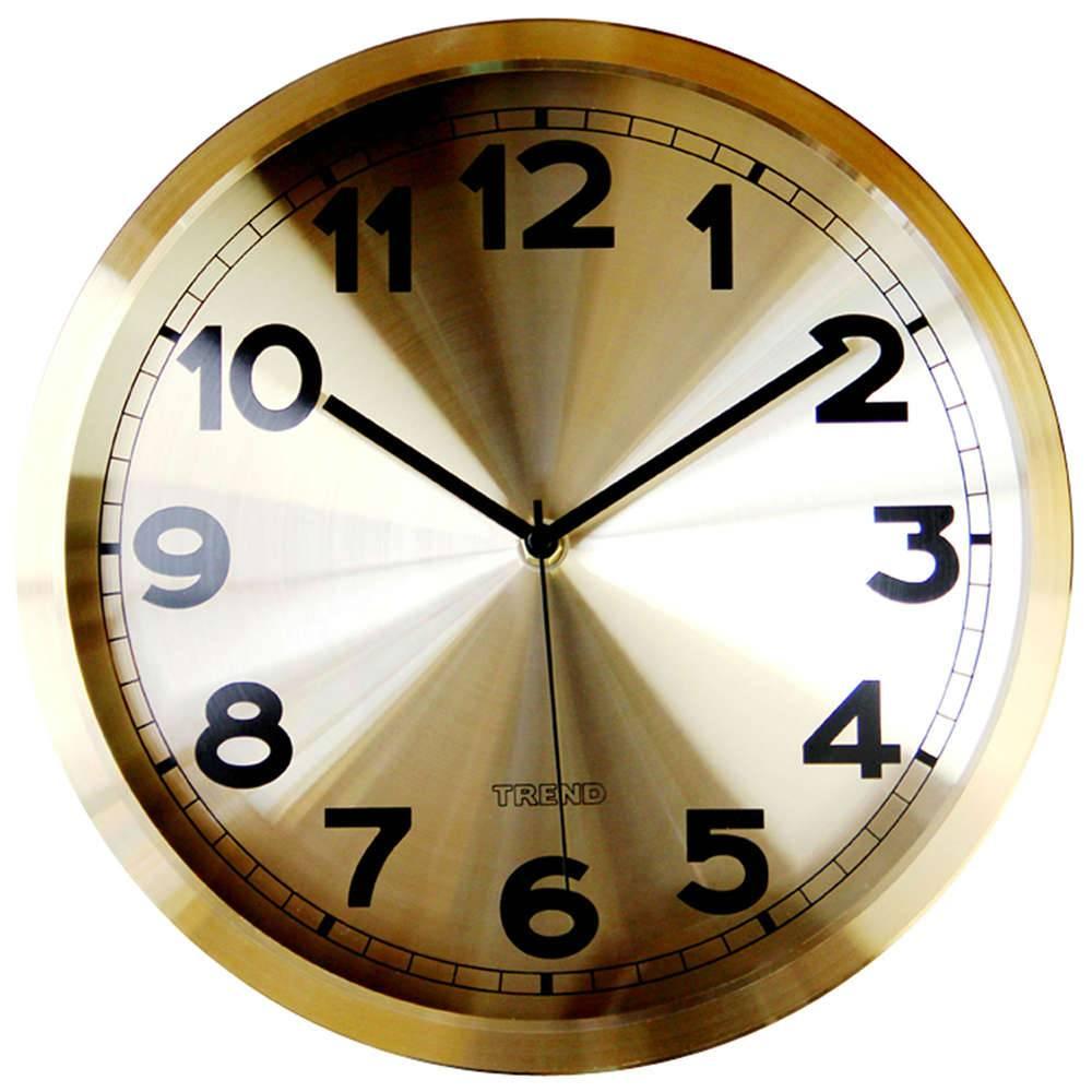 Relógio de Parede Goldie Dourado Pequeno em Alumínio - Urban - 30,4x4,3 cm
