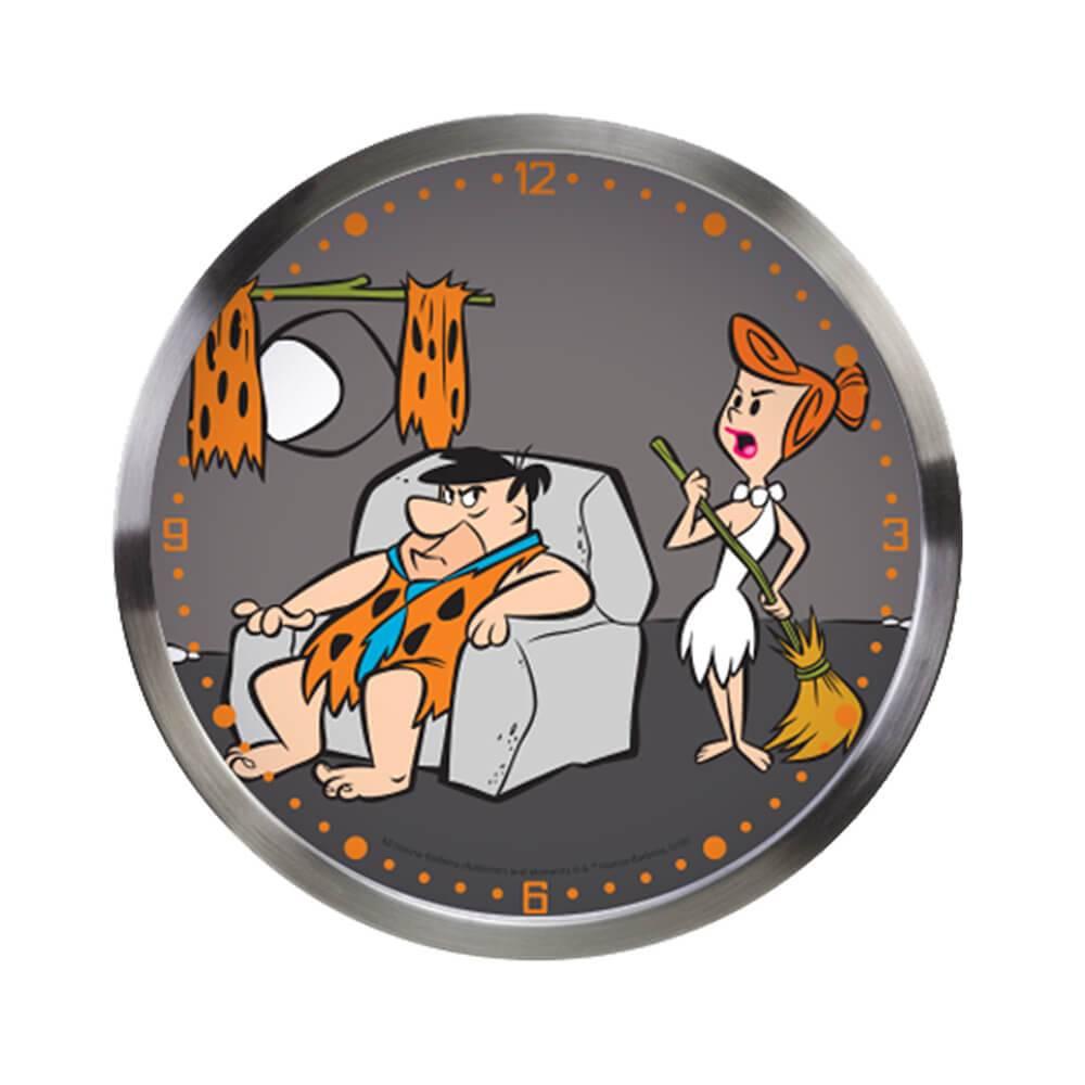 Relógio de Parede Hanna Barbera Fred Flintstones Resting em Metal - Urban - 30x4,2 cm