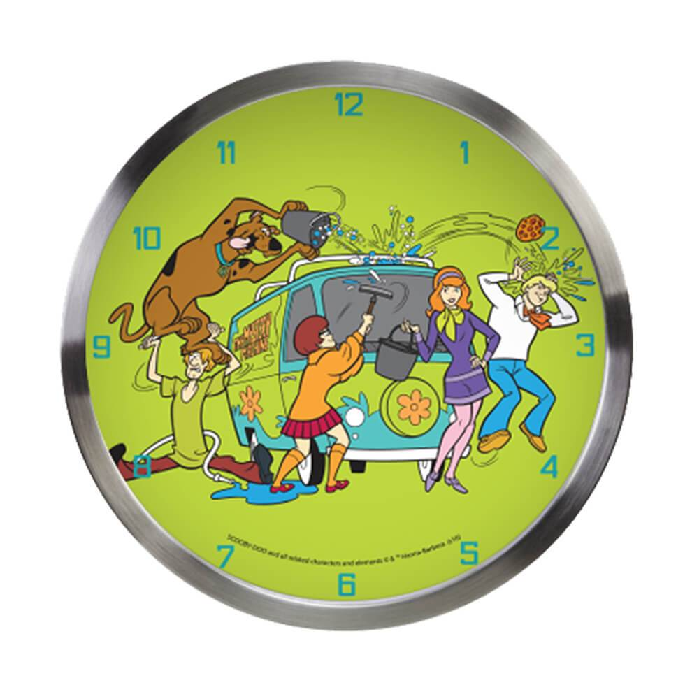 Relógio de Parede HB Scooby All Cleaning The Mistery Machine Verde - Urban - 30x4,2 cm