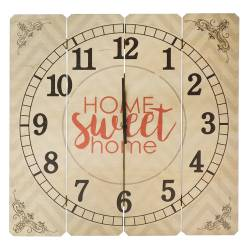 Relógio de Parede Home Sweet Home em Madeira MDF - 40 cm R$ 179,99 R$ 119,99 2x de R$ 60,00 sem juros