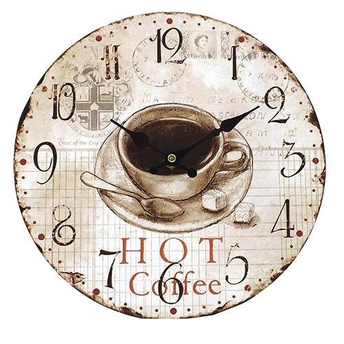 Relógio de Parede Hot Coffee Oldway - Em MDF - 29 cm