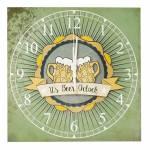 Relógio de Parede Its Beer Oclock em Madeira MDF - 30 cm