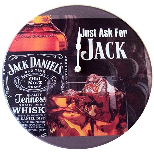 Relógio de Parede Jack Daniels Old Time em Madeira MDF - 28 cm