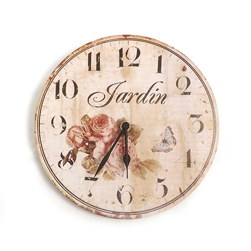 Relógio de Parede Jardin  - Em MDF - 24 cm