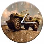Relógio de Parede Jeep Montanha Verde em MDF - 28 cm