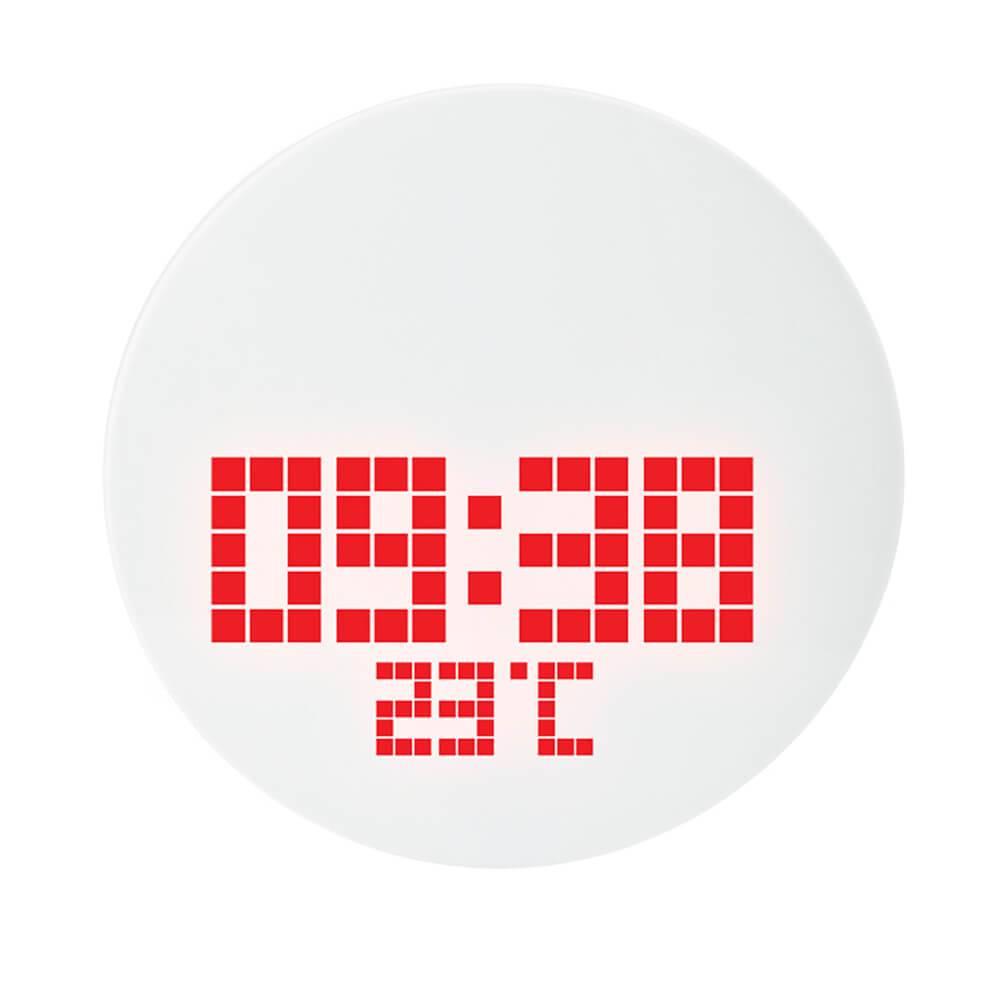 Relógio de Parede Jumbo Led Redondo em Vidro - Urban - 28 cm