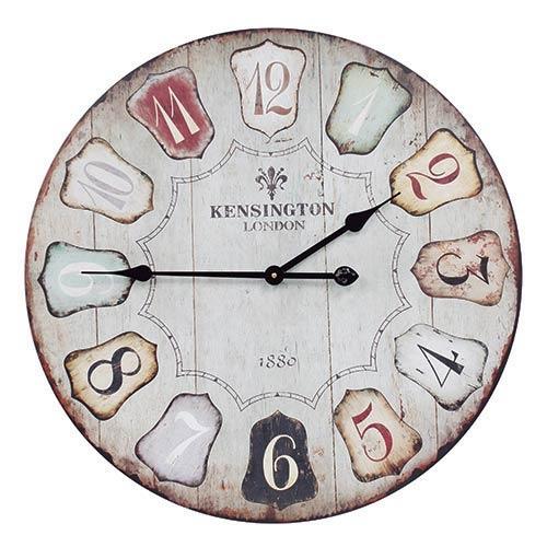Relógio de Parede Kensington London Oldway - Em MDF - 60 cm