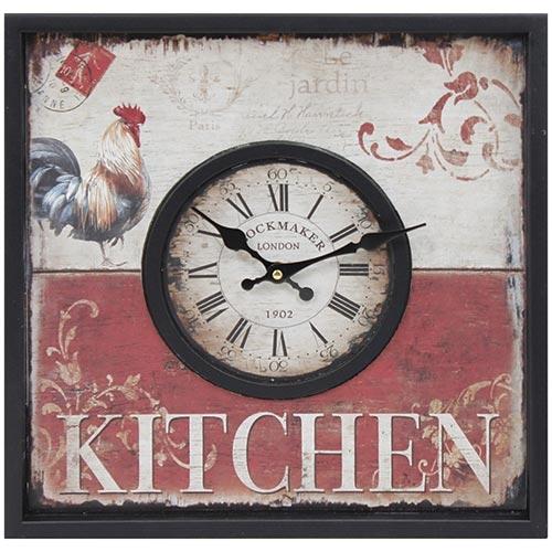 Relógio de Parede Kitchen London Oldway - 40x40 cm