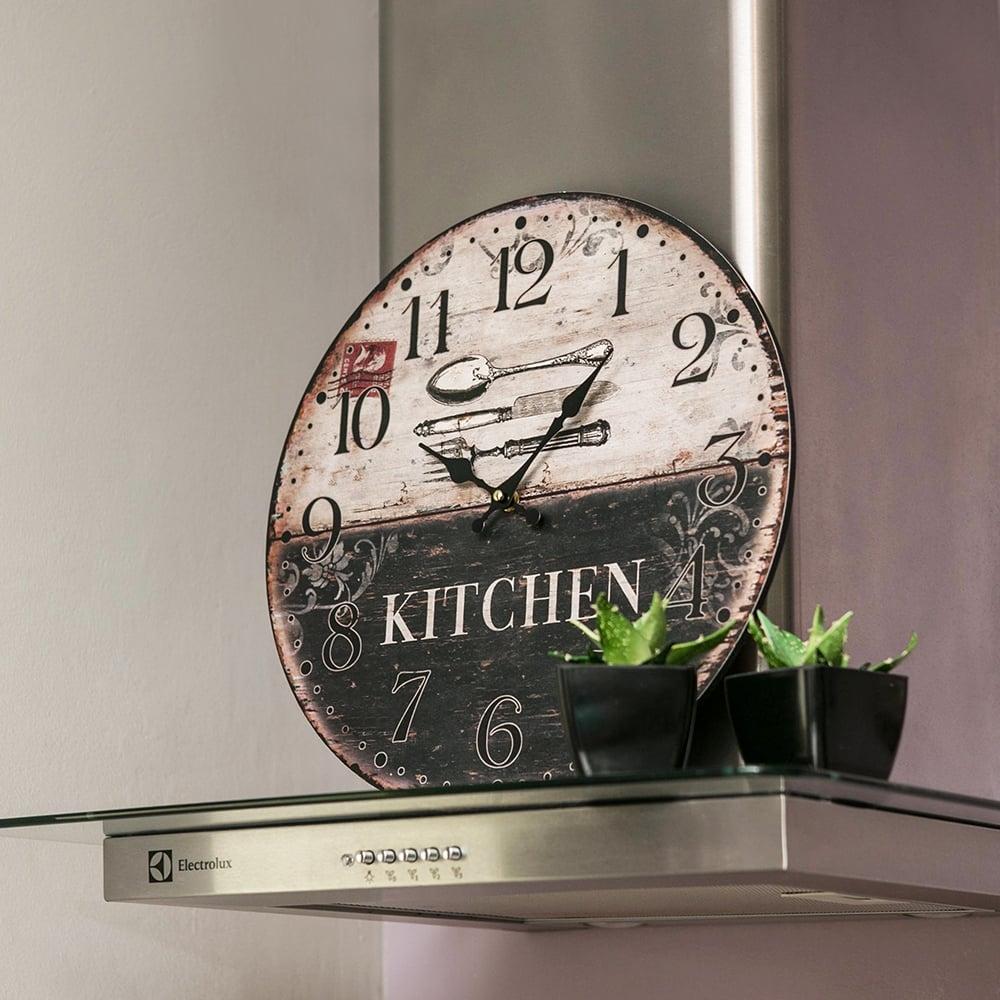 Relógio de Parede Kitchen / Talheres Oldway - Em MDF - 40 cm