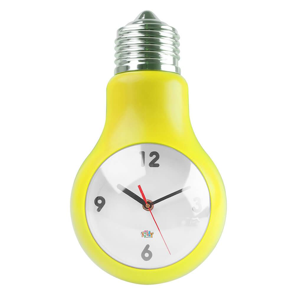 Relógio de Parede Lâmpada Amarela - Urban - 35,5x19 cm