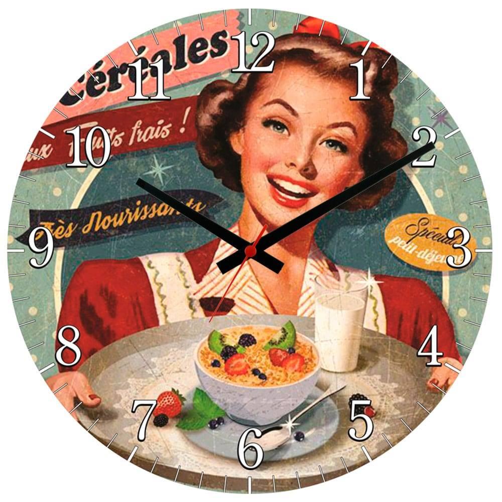 Relógio de Parede Les Céréales em MDF - 28 cm
