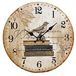 Relógio de Parede Livro e Passáro