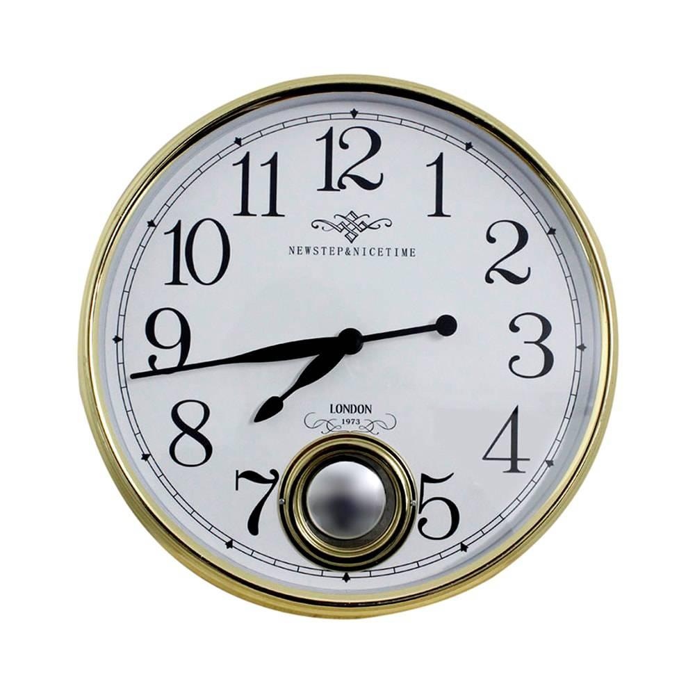 Relógio de Parede Marie Gold Goldway - 37x13 cm
