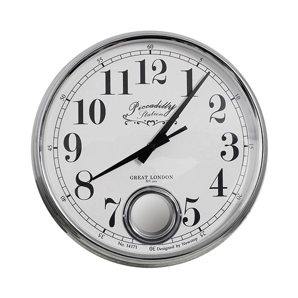 Relógio de Parede Marie Silver Goldway - 37x13 cm