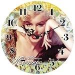 Relógio de Parede Marilyn Monroe Hollywood on Set