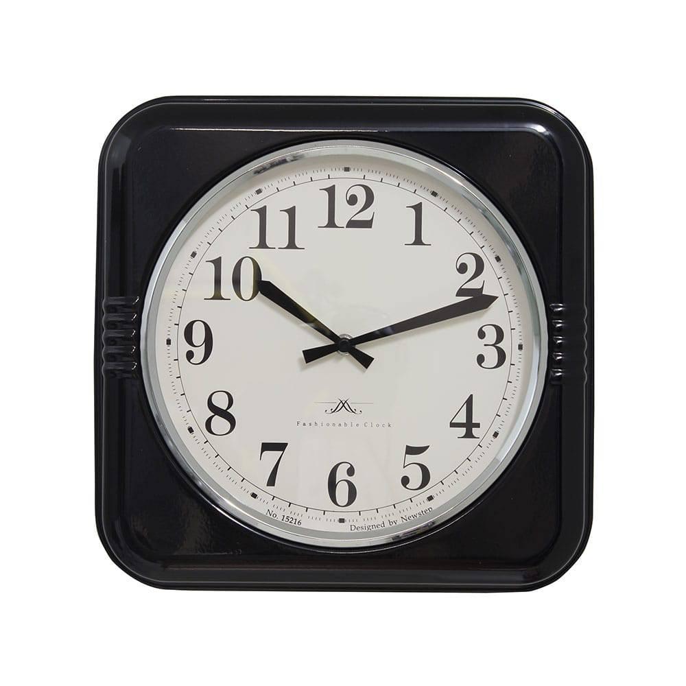 Relógio de Parede Mia Black Oldway - 32x6 cm