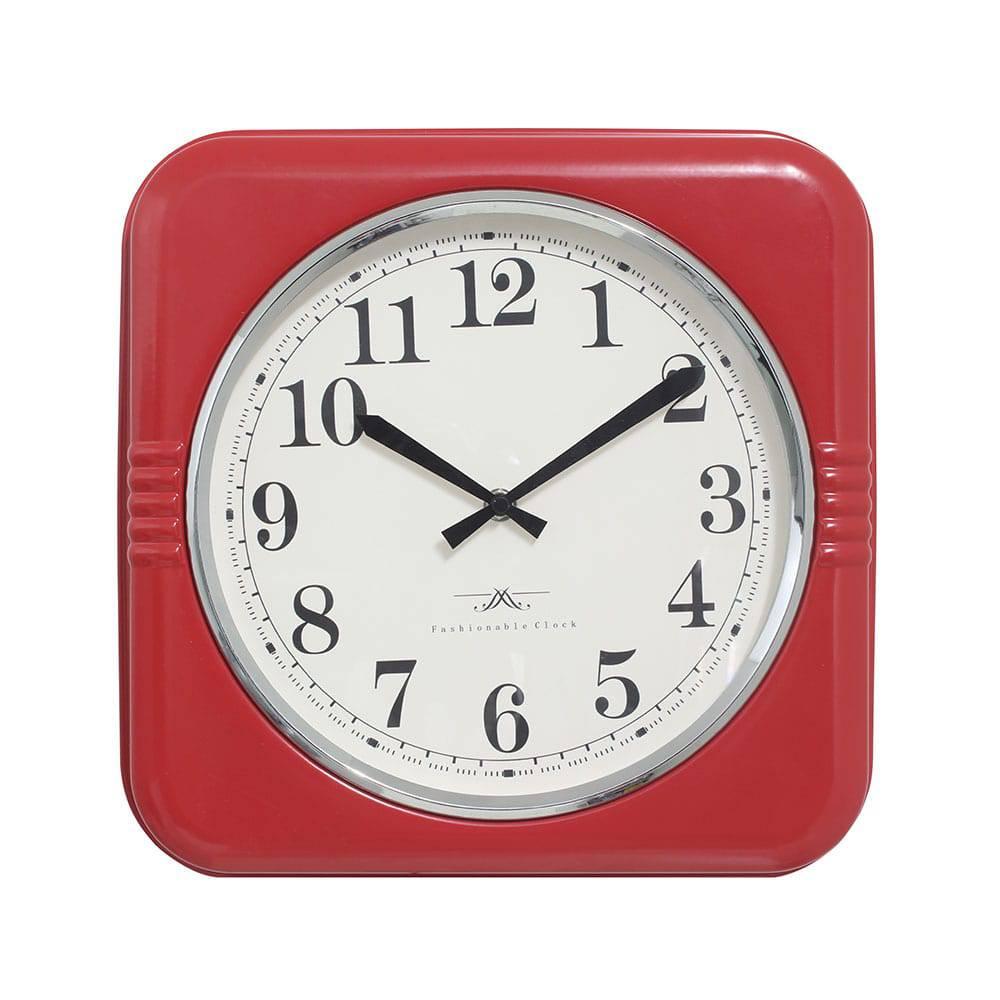 Relógio de Parede Mia Red Oldway - 32x6 cm