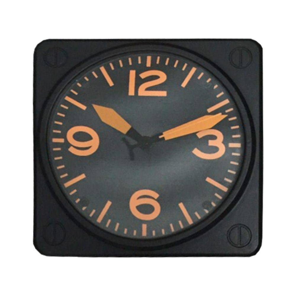 Relógio de Parede Modelo de Pulso Quadrado Preto - 30x30 cm
