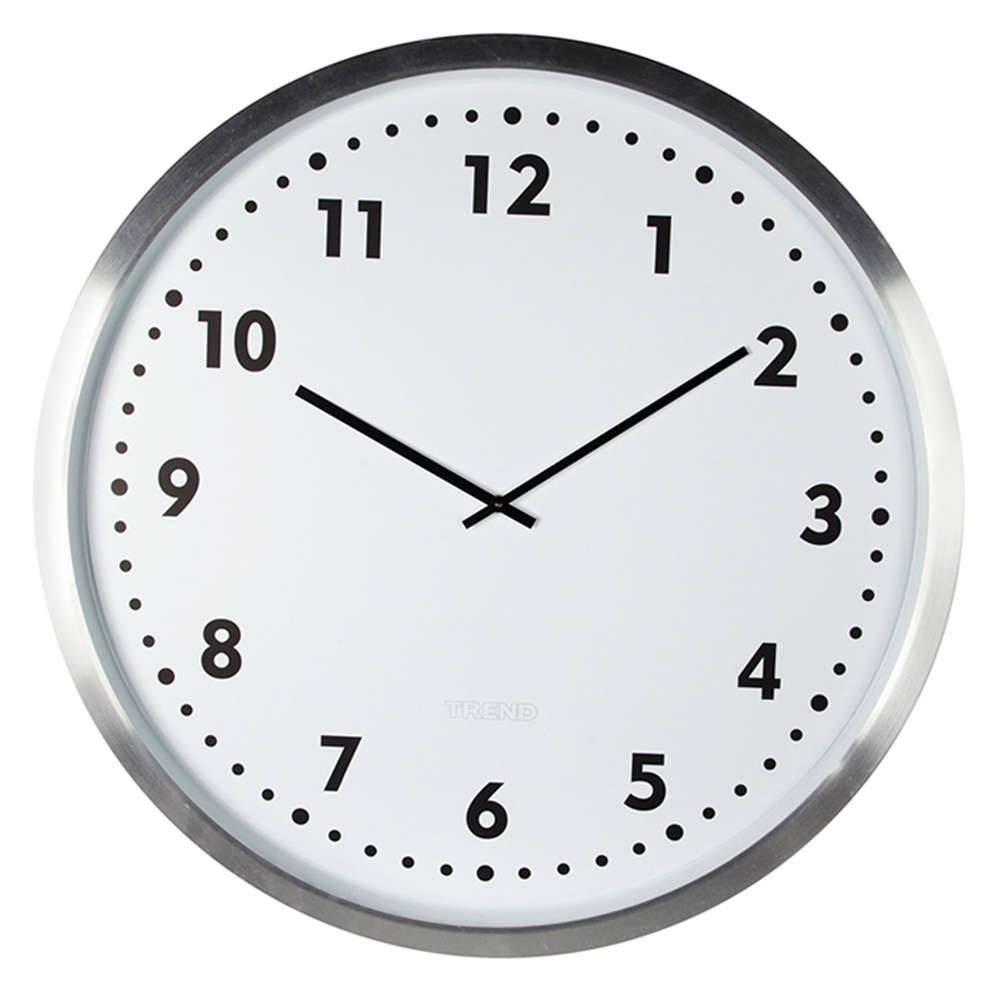 Relógio de Parede com Moldura Prateada em Alumínio - Urban - 80x6,5 cm