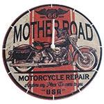 Relógio de Parede Mother Road USA em Madeira MDF - 28 cm