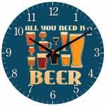 Relógio de Parede Need Beer em MDF - 28 cm