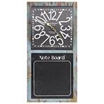 Relógio de Parede Note Board c/ Quadro Negro Oldway - Metal - 60x30 cm