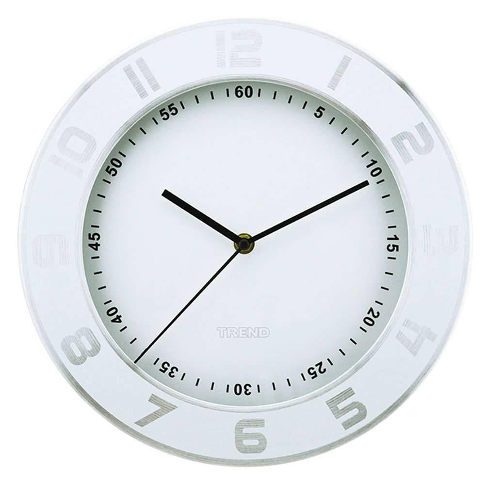 Relógio de Parede Numbers Out Branco em Alumínio - Urban - 30 cm