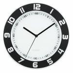 Relógio de Parede Numbers Out Preto e Branco em Alumínio - Urban - 30 cm