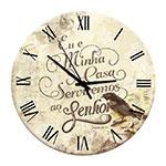 Relógio de Parede Oração em Madeira MDF - 28 cm